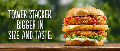KFC Stacker Burger - Yum!