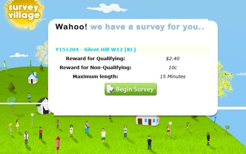 Survey Village now paying in Dollars not Points