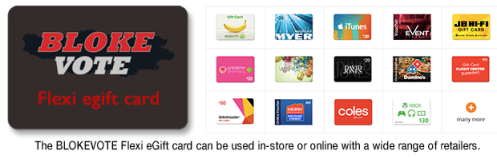 Get a Flexi eGift card at Blokevote which can be used in-store or online with a wide range of retailers.