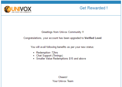 Get Upgraded at Univox Community