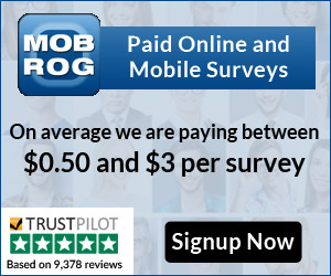 Mobrog Surveys: Paid Online and Mobile Surveys. On average paying between $0.50 and $3 per survey. Signup Now.