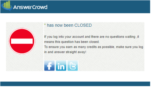 AnswerCrowd has closed